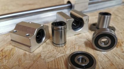 Various types of linear bearing